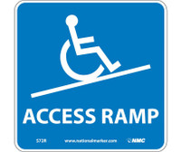 Access Ramp (W/ Graphic) 7X7 Rigid Plastic