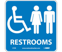 Restrooms (W/ Graphic) 7X7 Rigid Plastic