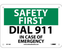 Safety First Dial 911 7X10 Rigid Plastic