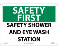 Safety First Safety Shower And Eye Wash Station 10X14 Rigid Plastic