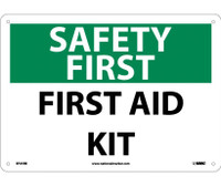 Safety First First Aid Kit 10X14 Rigid Plastic
