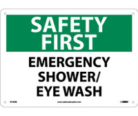 Safety First Emergency Shower/Eye Wash 10X14 Rigid Plastic