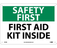 Safety First First Aid Kit Inside 10X14 Rigid Plastic