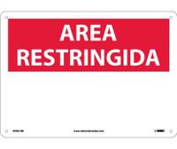 Area Restringida Blank 10X14 Rigid Plastic