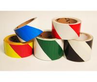 "Tape Hazard Stripe Magenta/Ylw 2""X18 Yd"