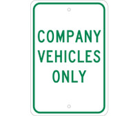 Company Vehicles Only 18X12 .080 Egp Ref Alum