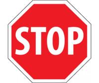 Stop (Octagon) 30X30 .080 Egp Ref Alum