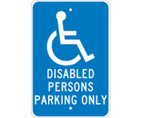 Disabled Persons Parking Only 18X12 .080 Egp Ref Alum