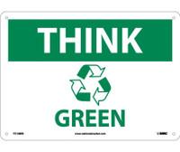 Think (Graphic) Green 10X14 Rigid Plastic