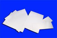 Blank White 4 X 12 Pak 3 Rigid Plastic