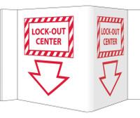 Visi Sign Lockout Center White 5 3/4X8 3/4 Rigid Vinyl