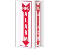 Visi Fire Alarm 16X8.75 Rigid Vinyl