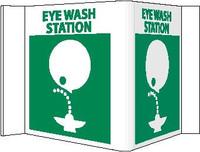 Visi Sign Eye Wash Station White 5 3/4X8 3/4 Rigid Vinyl