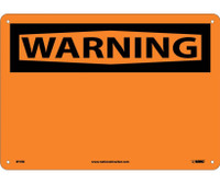 Warning (Header Only) 10X14 Rigid Plastic