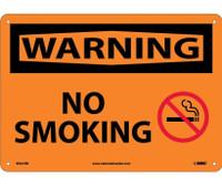 Warning No Smoking Graphic 10X14 Rigid Plastic