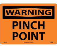 Warning Pinch Point 10X14 Rigid Plastic