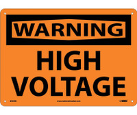 Warning High Voltage 10X14 Rigid Plastic