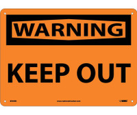 Warning Keep Out 10X14 Rigid Plastic