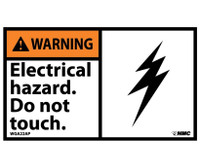 Warning Electrical Hazard Do Not Touch 3X5 Ps Vinyl 5/Pk