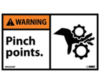 Warning Pinch Points 3X5 Ps Vinyl 5/Pk