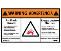 Warning Arc Flash Hazard Bilingual (Graphic) 3X5 Ps Vinyl 5/Pk