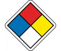 "Labels Hazard Warning Nfpa 1"" X 1"" Ps Paper 750/Rl"