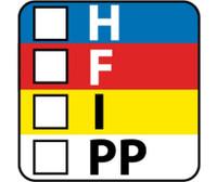 Labels Hazard Warning Color Bar 1 X 1 Ps Paper 750/Rl