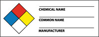 Nfpa Chemical Label 1 1/2 X 4 Ps Vinyl 500/Roll