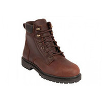 "King's Brown 6"" Steel Toe Classic Work Boot - KCWB03"