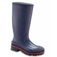 "Servus Northerner Gray / Red / Black 15"" PVC Plain-Toe Work Boot - 75122"