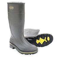 "Servus PRO Gray / Red / Black 15"" PVC Safe-Toe Work Boot - 75102"