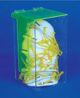 ACRYLIC, DUST MASK DISPENSER WITH COVER