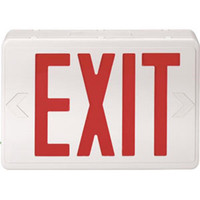 Red LED Exit Sign w/ Battery Backup - 105