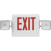 Combination Red Exit/Lighting Unit, White - 136