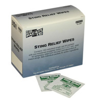 Sting Relief Wipes (100/Box) - 19200