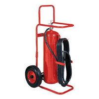 Badger™ 50 lb Wheeled Stored Pressure ABC Extinguisher,  25' Hose - 127