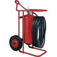 Badger™ 125 lb ABC Wheeled Stored Pressure Fire Extinguisher, 50' Hose - 653