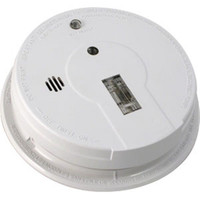 Kidde Interconnectable AC/DC Smoke Alarm w/ Battery Backup, Exit Light, Smart Hush, Silent Hush, & Alarm Memory (Ionization) - 1285E