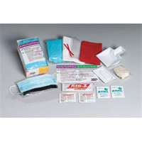 16-Piece Bodily Fluid Clean-Up Kit, Disposable Tray - 214P