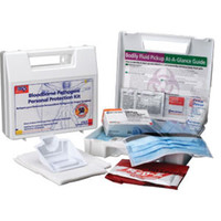 31-Piece Personal Bloodborne Pathogen Kit w/ 6-Piece CPR Pack - 216O