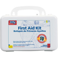 10-Person, 63-Piece Bulk First Aid Kit w/ Gasket (Plastic) - 222G