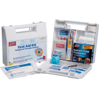 10-Person, 63-Piece Bulk First Aid Kit w/ Dividers (Plastic) - 222U