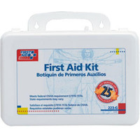25-Person, 107-Piece Bulk First Aid Kit w/ Gasket (Plastic) - 223G
