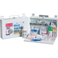 25-Person, 110-Piece Bulk First Aid Kit w/ CPR Shield (Metal) - 224F