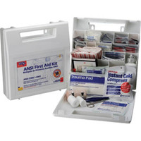 50-Person, 196-Piece Bulk First Aid Kit w/ Dividers, Plastic - 225AN