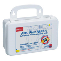 10-Unit, 64-Piece Unitized First Aid Kit w/ Gasket, Plastic - 238AN
