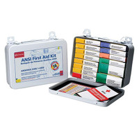 16-Unit, 103-Piece Unitized First Aid Kit w/ Gasket, Metal - 241AN