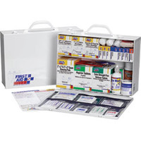 2-Shelf, 75-Person, 515-Piece First Aid Station w/ 8-Pocket Liner - 245PO