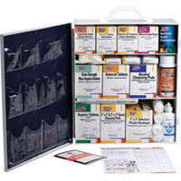 3-Shelf, 100-Person, 1092-Piece First Aid Station w/ 12-Pocket Liner - 247OP