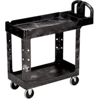 "Rubbermaid Heavy-Duty Utility/Service Cart, 45 1/4""L x 33 1/4""H x 25 7/8""W - 452088BK"